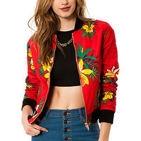 The Fast Times Reversible Bomber Jacket in Red