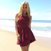 Toast To Dreams Party Dress In Burgundy