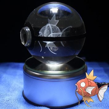 Ball Figures Toys Pocket Ball Anime Model Magikarp Figures Toy  Go With Led BaseKawaii Pokemon go  AT_89_9