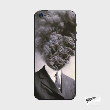 Smoking Head iPhone 5 / 5S iPhone 4 / 4S Galaxy S3 / S4 Nexus 5 Nokia Lumia Skin Cover Decal Sticker