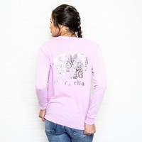 Perfect Fit Neon Purple Foil Paisley Tee