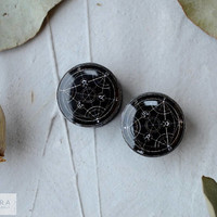 Pair plugs Fullmetal Alchemist image ear tunnels 4,5,6,8,10,12,14,16,18,25-60mm;6g,4g,2g,0g,00g;1/4,5/16,3/8,1/2,9/16,5/8,3/4,7/8,1 1/4,1""