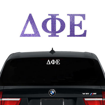 Dphie delta phi epsilon greek letters sorority decal
