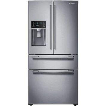 Samsung - 24.7 Cu. Ft. 4-Door French Door Refrigerator with Thru-the-Door Ice and Water - Stainless Steel