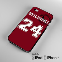 Teen Wolf STILINSKI lacrosse jersey A0444 iPhone 4S 5S 5C 6 6Plus, iPod 4 5, LG G2 G3, Sony Z2 Case