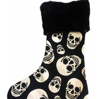 Pretty Attitude Happy Skullidays Christmas Stocking