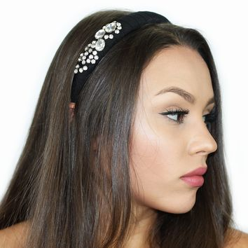 Glass Rhinestone Headband