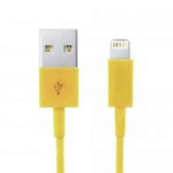 Yellow iPhone Lightning to USB Cable