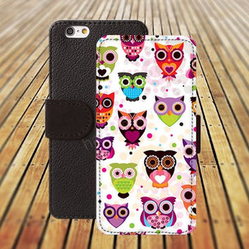 iphone 5 5s case cartoon owl case iphone 4/ 4s iPhone 6 6 Plus iphone 5C Wallet Case , iPhone 5 Case, Cover, Cases colorful pattern L108