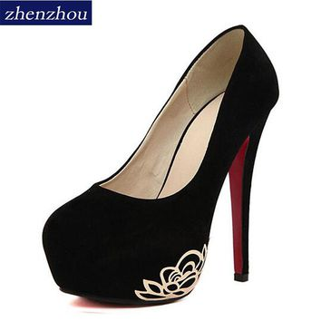 New Women's shoes 2017 summer brand new OL fish head high heels waterproof table sexy wedding shoes black professional shoes