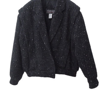 J008 80S VINTAGE Pelted Fuzzy Wool Bomber