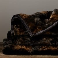 Faux Fur Throw - Brown Bear