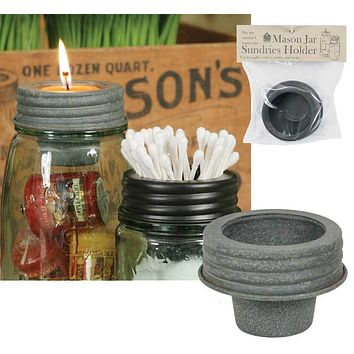 Mason Jar Tapered Cup Lid - Barn Roof - Set of 4