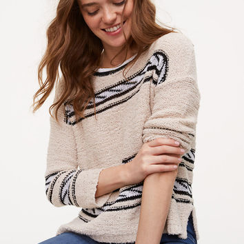 Rope Striped Sweater | LOFT