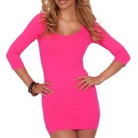 Fitted Spandex Flirty Mini Causal Club Cocktail Special Occassion Party Dress