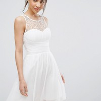Little Mistress Embellished Mini Prom Dress at asos.com