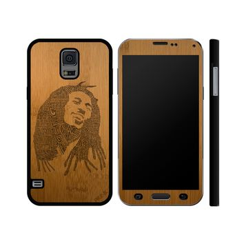 """Bob Marley Lyrics"" Wood Galaxy Case"