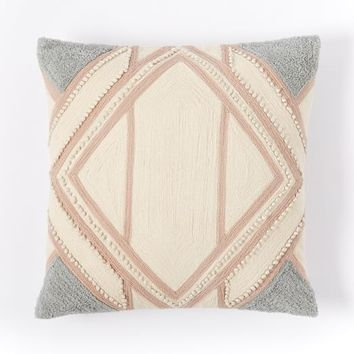 Crewel Diamond Linework Pillow Cover - Rosette