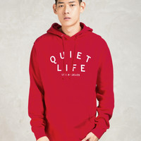 The Quiet Life Red Standard Hoodie | HBX.