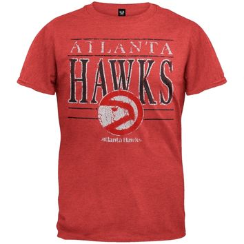 Atlanta Hawks - Crackle Classic Logo Soft T-Shirt