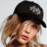 Victoria's Secret PINK Black/Light Grey Baseball Cap Hat