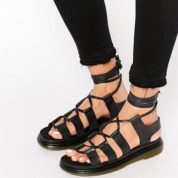 Dr Martens Kristina Ghillie Lace Up Flat Sandals