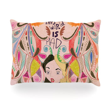 "Vasare Nar ""Alice in Wonderland"" Oblong Pillow"