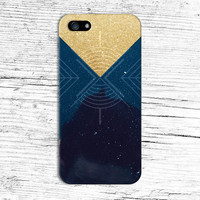 Gold Glitter Geometric Universe x Space Phone Case for iPhone 6 6 Plus iPhone 5 5s 5c 4 4s Samsung Galaxy s6 s5 s4 & s3 and Note 5 4 3 2