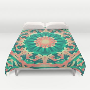 Abstract Duvet Cover by Colorful Art