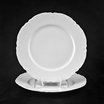 "Haviland Limoges Ranson Salad Plates, 7 1/2"", 2pc Set, Schleiger 1"