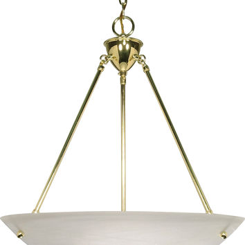 Hanging Pendant Light Fixture in Polished Brass Finish