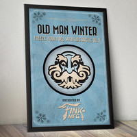 Bioshock Infinite Inspired Poster - Old Man Winter Vigor