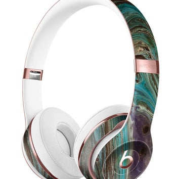 Swirling Dark Acrylic Marble Full-Body Skin Kit for the Beats by Dre Solo 3 Wireless Headphones