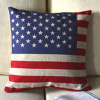 The Stars and Stripes Print Decorative Pillow [033] : Cozyhere