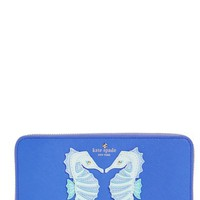 kate spade new york 'seahorse appliqué - lacey' leather wallet | Nordstrom