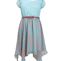 Bonnie Jean 7-16 Lace-Bodice Pattern-Skirted Dress