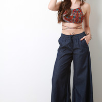 Bell Bottom Elasticized Waist Jeans