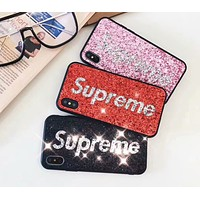 Supreme 2018 New Sequins Fashion Scratch iPhone Case F-OF-SJK