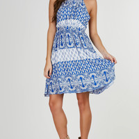 Floating Paisley Printed Dress