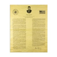 JFK's Inaugural Address Poster at the John F. Kennedy Presidential Library and Museum's Online Store