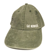 go nowhere hat twill cap hat baseball style olive green hat