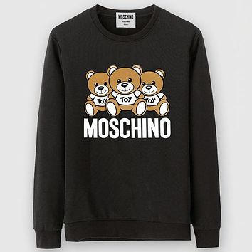 Boys & Men Moschino Casual Edgy Long Sleeve Sweater