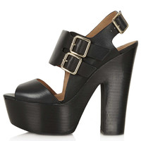 LIQUORICE Buckle Platforms