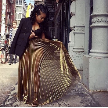 GODDESS GOLD SKIRT