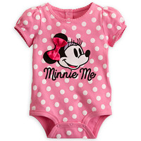Minnie Mouse Polka Dot Disney Cuddly Bodysuit for Baby
