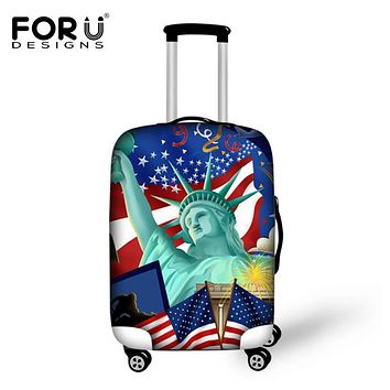 FORUDESIGNS New York Style Protective Luggage Cover For 18-30 Inch Travel Trolley Elastic Waterproof Suitcase Dust Rain Cover