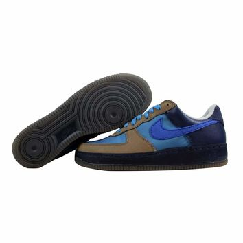 Nike Air Force I 1 Low IO Permium Harbor Blue/Sport Royal-Soft Grey Stash 313213-441