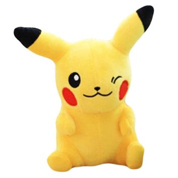 20CM Pikachu Plush Toy Gengar Small Soft Toys Sleeping Pillow Doll For Kid Birthday Gifts Anime Jigglypuff Poliwhirl Charmander