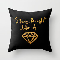 Shine (black gold edition) Throw Pillow by Sandra Arduini