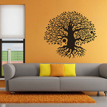 tree of Life wall decals Tree Decor Celtic wall decals for Living Room for Yoga Studio Decor kik3330